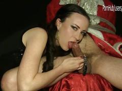 Mr. and mrs. santa's tied handjob bedroom's secrets... sylvia chrystall hd