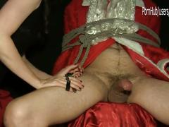 Mr. and mrs. santa's tied handjob bedroom's secrets... sylvia chrystall hd