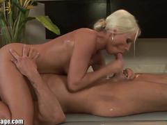 Massage chick alyssa reece sucking a hunk guy