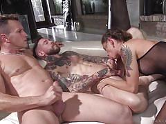 anal, babe, deepthroat, gangbang, foursome, pantyhose, double penetration, tattooed, from behind, rocco siffredi, fame digital, choky ice, dean van damme, luke hotrod, malena xx, juan lucho