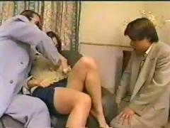 Japanese secretary white panty