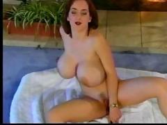 Big titted redhead oozes pussy cum