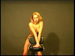 blonde, naked, stripping, teasing, nude, horny, chair, softcore, strip, striptease