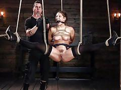 Hard rope bondage & clit torture