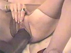 dildo, blonde, blowjob, amateur, deepthroat, pantyhose, realamateur