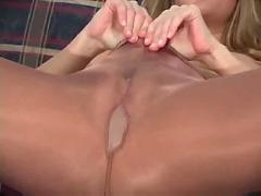 Monica sweetheart teasing in pantyhose