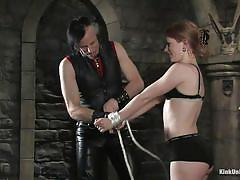 milf, bondage, bdsm, redhead, tied up, basement, ropes, executor, educational, kink university, kink, madison young