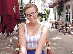 glasses, amateur, flashing, short hair, pov, pussy rubbing, brown hair, i know that girl, mofos network, bailey bae