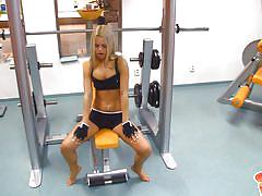 blonde, babe, solo, slim, sport, camera, undressing, gym, sabrina blond, sabrina blond