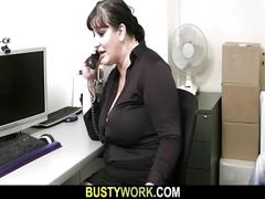Bbw in pantyhoses rides his massive rod