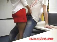 Amateur teen getting fucked in the office