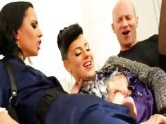 Nasty bukkake lesbians get wam