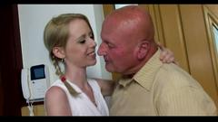 Grandpa fuck his young girlfriend (creampie) part i