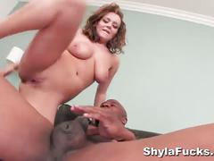 Interracial threesome with shyla stylez