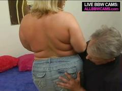 Lovely sporty bbw blond fat ass part 1