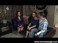 Delicious dame danni does nuru massage session