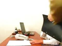 Sexy russian office granny mature mature porn granny...