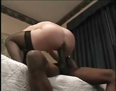 Amatuer brunette interracial