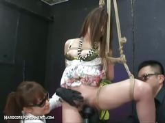 Ayumi and her hairy pussy tied up and abused