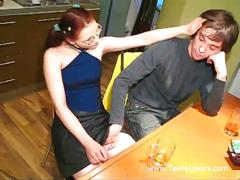 Young lovers learn to fuck