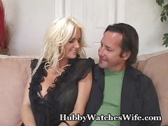Yummy wifey banged by young stud