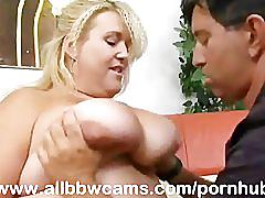 Texas bbw gal pounding her fat ass giant chubby tits part 1