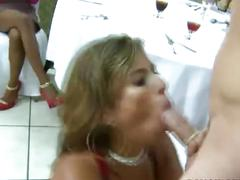 Cfnm amateurs stripper blowjob and facial
