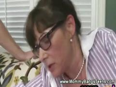 Kinky milf and daughter getting screwed