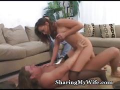 wife, petite, brunette, sharing, swinger, cuckold, hardcore, amateur, smalltits, natural