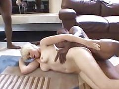 Sexy short hair blonde   2 bbc