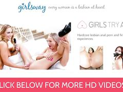 Girlsway teen daughter scissors with stepmom