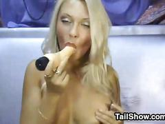 Blonde russian cam slut