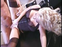 stockings, blonde, milf, busty, lingerie, office, secretary, garter