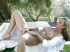 Horny blonde babe loves playing part5