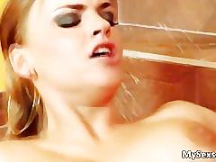 Curvy blonde euro babe gets her juicy part6