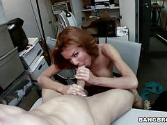 Veronica gets facial in the storage room