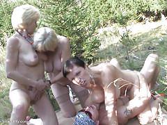 blonde, lesbians, big tits, mature, riding, foursome, blowjob, pussy licking, mature sexparty, mature nl, jitska