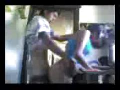 Boy fucks his girlfriend in the kitchen perfect
