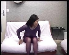 Old woman makes a sex tape