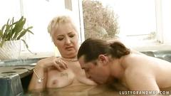 Grandma getting fucked in jacuzzi
