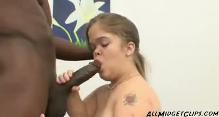 Midget mya loves big black cock and facials midget...