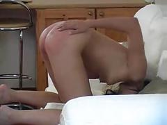 Naughty young woman spanked hard wf