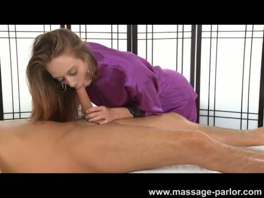 Kassius kay gives a deep massage