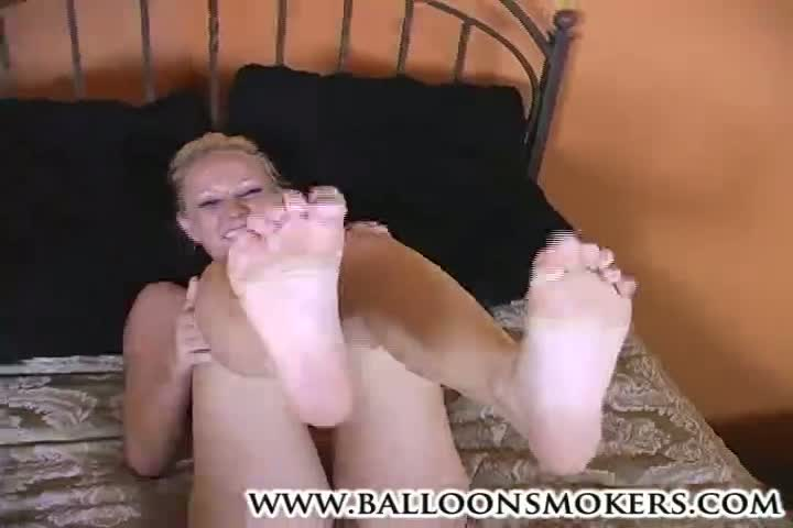 Alexia giving a foot job and getting fucked. cum on feet.