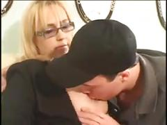 Blonde bbw mommy and young lover