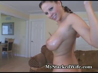 big tits, brunette, masturbation, mystackedwife.com, busty, big-boobs, masturbate, masturbating, big-ass, oil