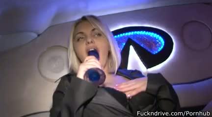 Busty blonde enjoys anal masturbation