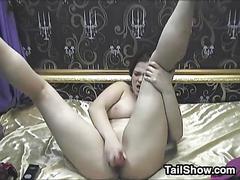 Cute cam girl masturbating amateur