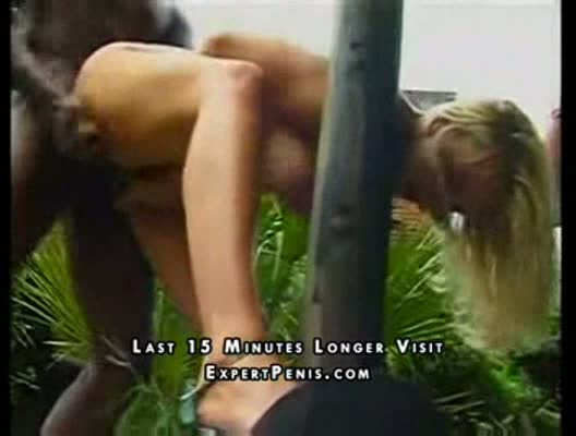 Hot blonde has her ass drilled by huge black cock...
