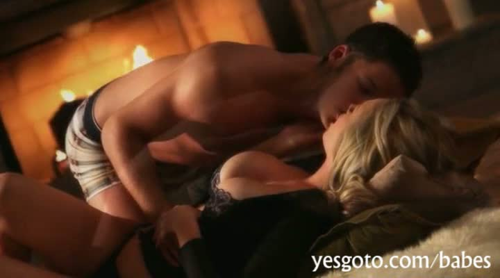 Huge rack babe katie kox pounded in the fire place